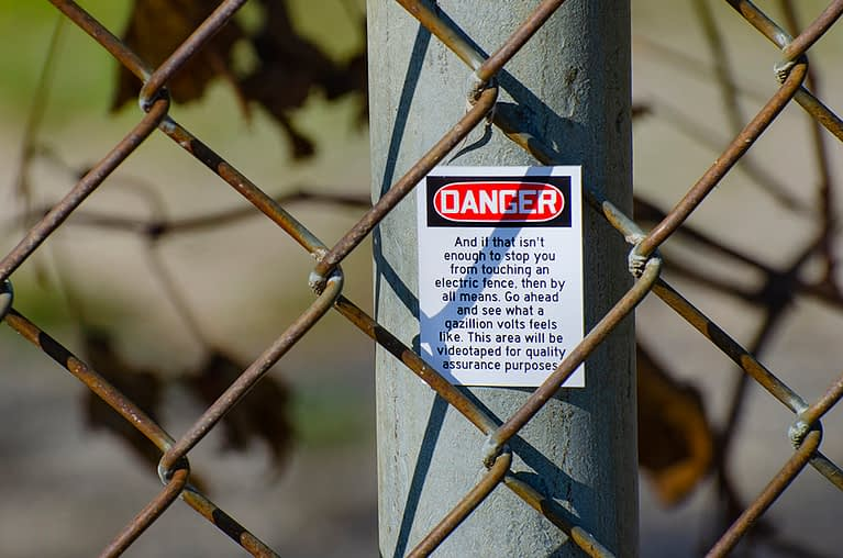 Danger – Electric Fence