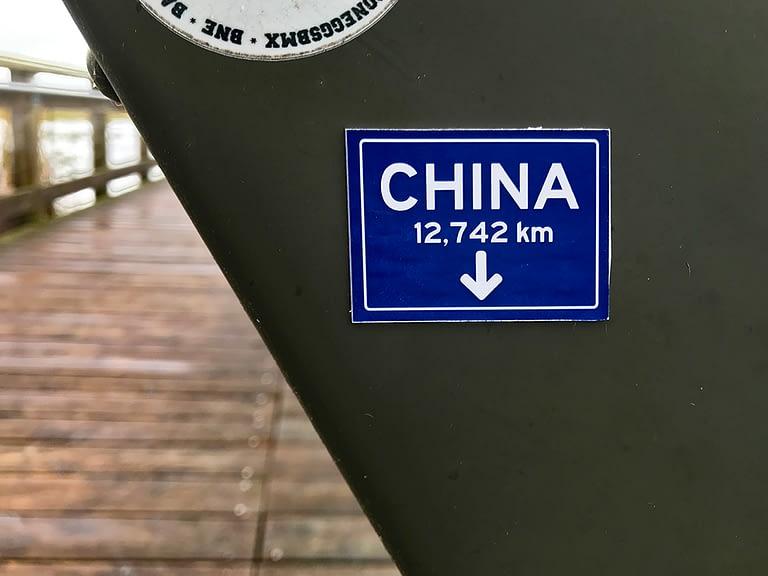 China – 12,742 km That Way