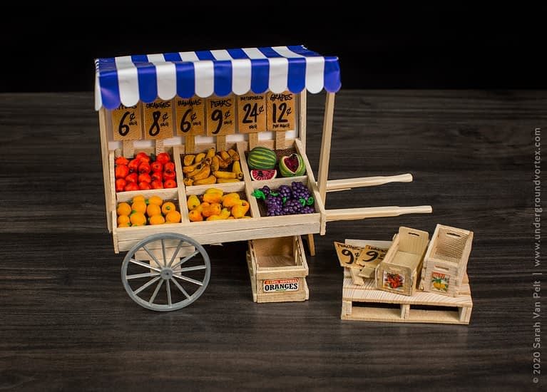 1950's New York Fruit Cart