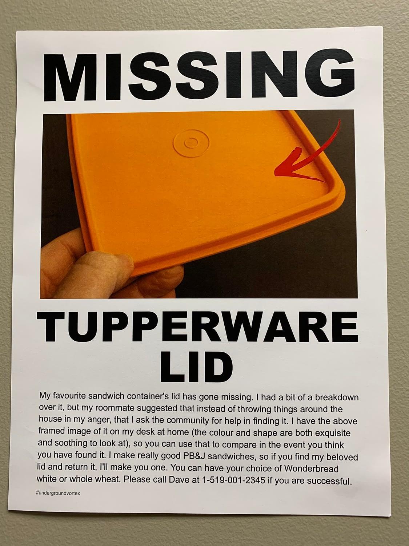 Tupperware Lid